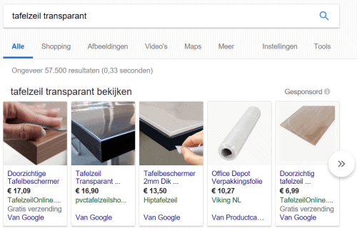 Google Shopping Advertenties in Google Search - AdWords uitbesteden